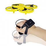 Квадрокоптер управляемый жестами руки Tracker Drone / ручной дрон / Сенсорный дрон с браслетом, Квадрокоптер, фото 5