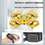 Квадрокоптер управляемый жестами руки Tracker Drone / ручной дрон / Сенсорный дрон с браслетом, Квадрокоптер, фото 7