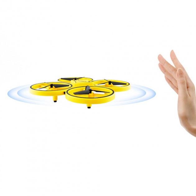 Квадрокоптер управляемый жестами руки Tracker Drone / ручной дрон / Сенсорный дрон с браслетом, Квадрокоптер