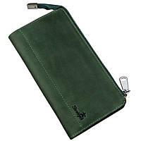 Клатч унисекс кожаный винтаж SHVIGEL 16188 Зеленый, фото 1