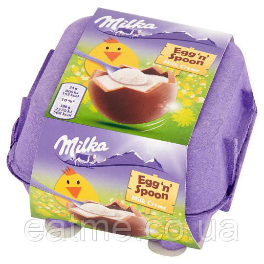 Шоколадные яйца Milka с молочной начинкой