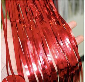 Шторка фольгированная для фотозоны красная.Размер 2м.*1м.