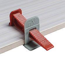 СВП система выравнивания плитки 1000 зажимов (1мм)+400 клинов+ инструмент, фото 2