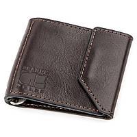 Зажим для денег GRANDE PELLE 11150 Темно-коричневый, фото 1