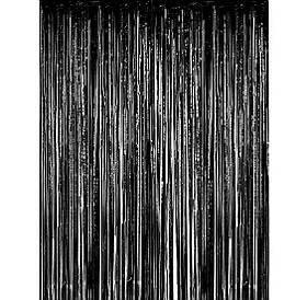 Шторка фольгированная для фотозоны чёрная. Размер 2м.*1м.