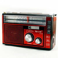 Радио Golon RX-381 + фонарь (1+6LED, среднее), USB, microSD