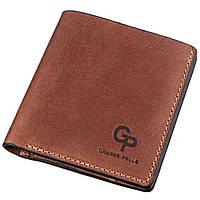 Компактное портмоне унисекс с накладной монетницей GRANDE PELLE 11238 Коричневое, фото 1