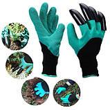 Перчатка-копалка для огорода, Перчатки с когтями, Перчатки для сада, Садовые перчатки Garden Genie Glove, фото 4