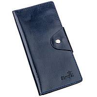 Бумажник унисекс вертикальный из кожи алькор на кнопках SHVIGEL 16174 Синий, фото 1