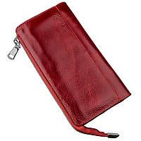 Яркий женский клатч кожаный SHVIGEL 16185 Красный, фото 1