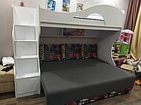 Недорогая кровать чердак с диваном