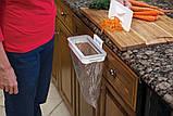 Мусорное ведро Attach-A-Trash, Навесной держатель мешка для мусора, Держатель для мусорных мешков, Товары для, фото 4
