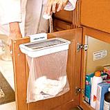Мусорное ведро Attach-A-Trash, Навесной держатель мешка для мусора, Держатель для мусорных мешков, Товары для, фото 5