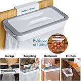 Мусорное ведро Attach-A-Trash, Навесной держатель мешка для мусора, Держатель для мусорных мешков, Товары для, фото 6
