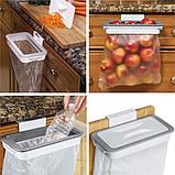 Мусорное ведро Attach-A-Trash, Навесной держатель мешка для мусора, Держатель для мусорных мешков, Товары для, фото 8