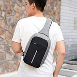 Рюкзак через плечо Bobby 1702, Городской рюкзак антивор Bobby, Сумка через плечо Бобби/ магазин Gipo, фото 2