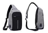 Рюкзак через плечо Bobby 1702, Городской рюкзак антивор Bobby, Сумка через плечо Бобби/ магазин Gipo, фото 4