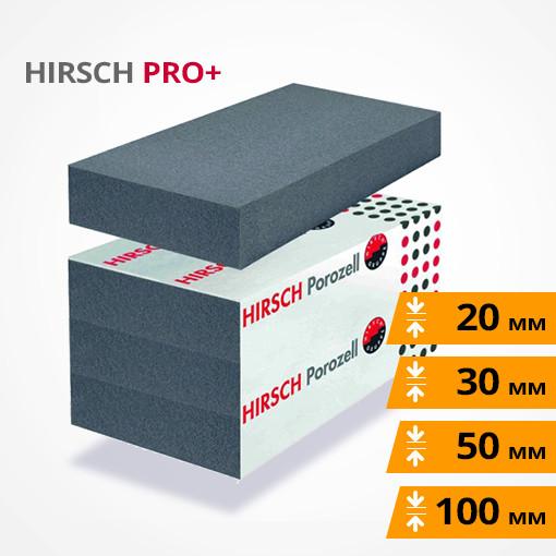HIRSCH PRO+ ХИРШ графитовый пенополистирол повышенной плотности для полов (под стяжку) и фасадов