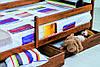 Кровать Ева 80 х 190 см + ящики + боковая планка, (светлый орех), фото 3