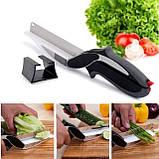 Универсальные кухонные ножницы Clever cutter, Нож-ножницы 3 в 1, Умный кухонный нож, Товары для кухни, фото 2