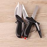 Универсальные кухонные ножницы Clever cutter, Нож-ножницы 3 в 1, Умный кухонный нож, Товары для кухни, фото 3