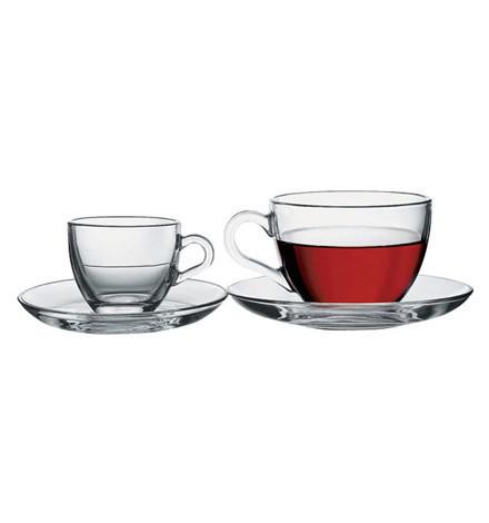 Чашка з блюдцем Basic, Pasabahce , 97948 /П2