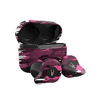 Беспроводные Bluetooth наушники Sabbat X12 Ultra Emirates rock c поддержкой aptX (Черно-розовый)