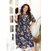 Стильное яркое женское платье суперсофт 42-56 в цветах