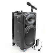 """Акустическая система аккумуляторная колонка 15"""" 2 микрофона Bluetooth USB FM Su-Kam BT-150D"""