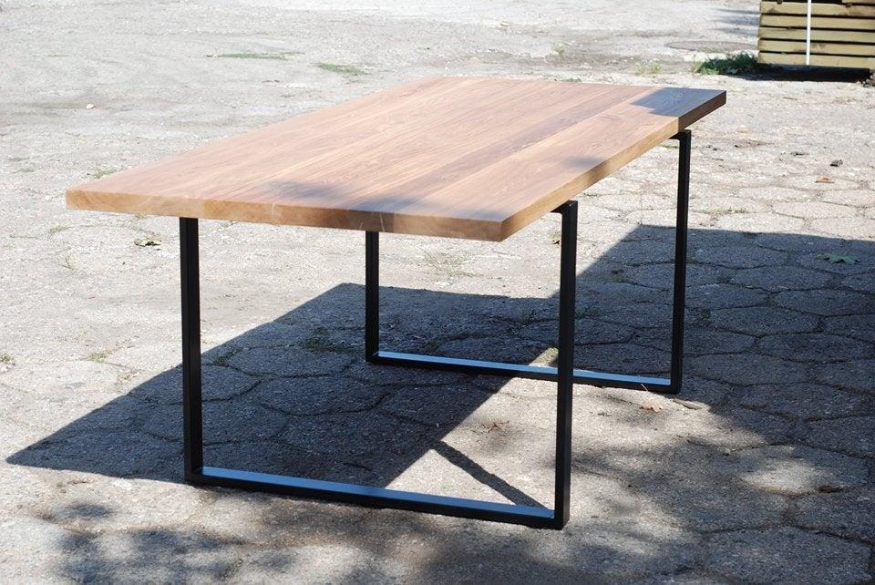 """Деревянный стол """"Кинг"""" из массива ясеня в стиле LOFT"""