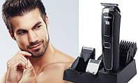 Машинка для стрижки Gemei GM 801 5в1, Триммер, Мультитриммер с насадками, Бритье бороды, носа, ушей