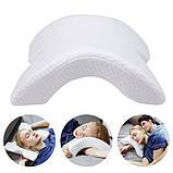 Подушка ортопедическая с эффектом памяти изогнутая, Ортопедическая подушка для сна, Подушки с эффектом памяти,, фото 6
