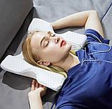Подушка ортопедическая с эффектом памяти изогнутая, Ортопедическая подушка для сна, Подушки с эффектом памяти,, фото 7