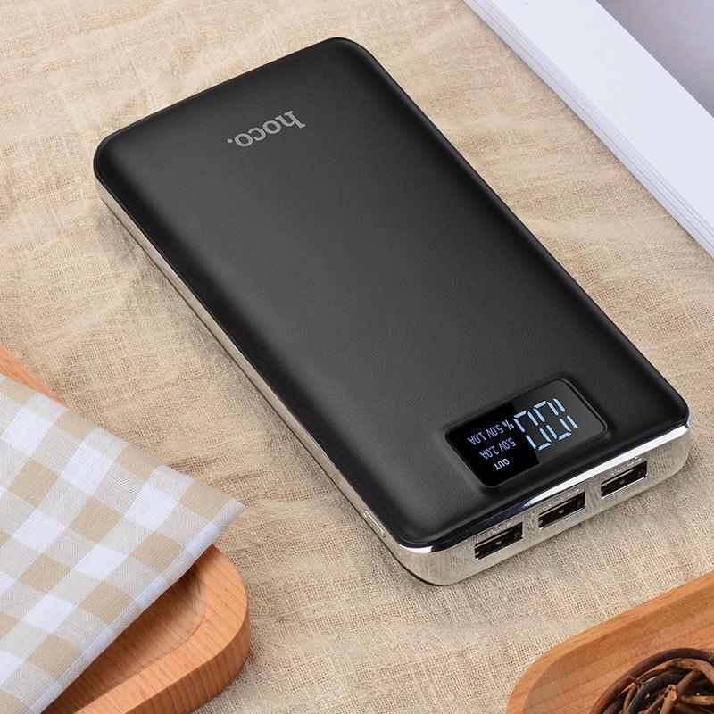 Power bank 20000 mAh HOCO B23B, Внешний акумулятор, Портативное зарядное устройство, Зарядка павер банк