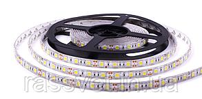 """Світлодіодна LED стрічка гнучка 12V IP65 5050\60 Series """"S"""", Білий (5500-6000К)"""