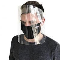 Защитный акриловый экран для лица mask-2020 в форме большого щитка 24 см (sh24)
