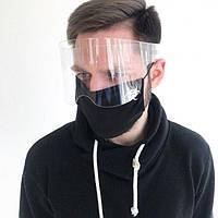 Защитный акриловый экран mask-2020 для лица в форме очков высотой 10,5 см (sh105)