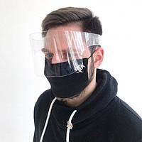 Защитный акриловый экран для лица mask-2020 в форме малого щитка 11 см (sh11)