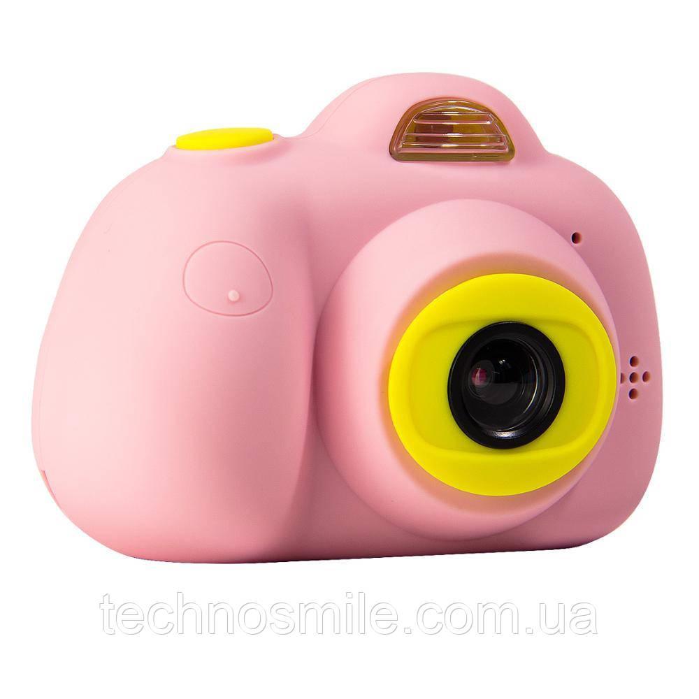 Дитячий фотоапарат, Kids Camera c дисплеєм, дитяча фотокамера, Рожева