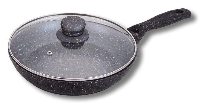 Сковорода глубокая гранитная с стеклянной крышкой Ø 280 мм (шт)
