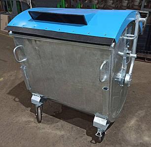 Оцинкований контейнер для сортування сміття 1,1 м3.