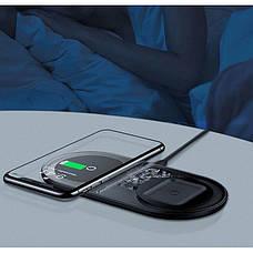 Бездротове зарядний пристрій Baseus Simple 2-в-1 18W (WXJK-01), фото 3