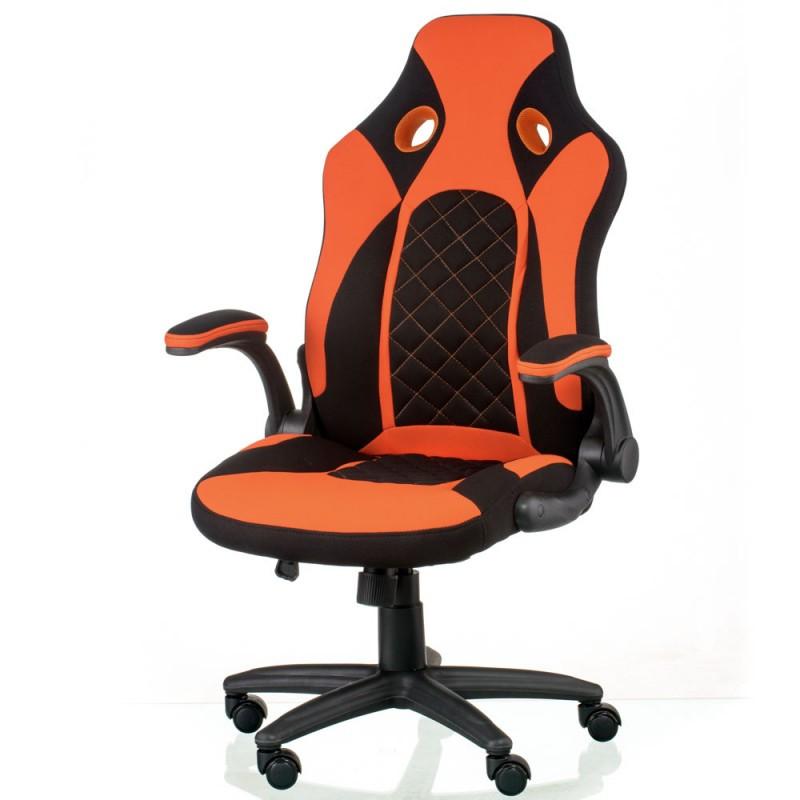 Крісло офісне Special4You Kroz black/red (E5531)