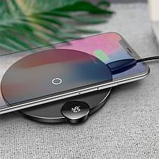 Бездротова зарядка для телефонів Baseus 10W Qi Wireless Charger Digital LED Display (WXSX-01), фото 2