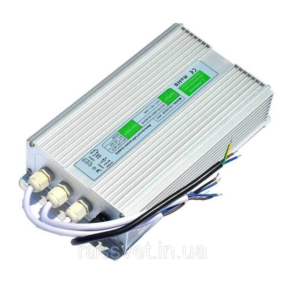 Блок питания импульсный  250W 12V (IP67,20,08A