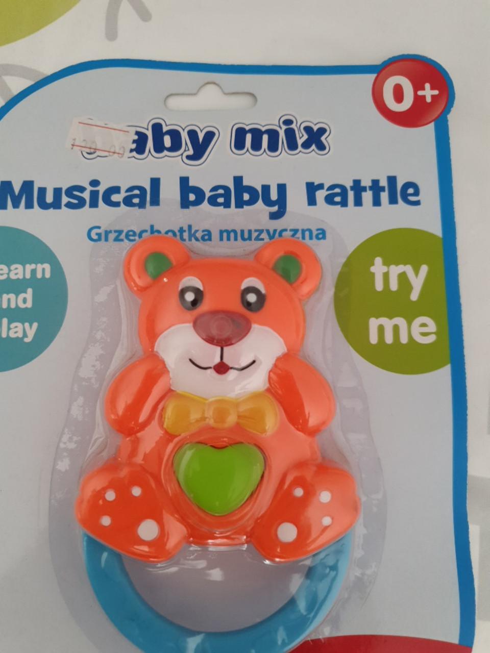 Яркая детская погремушка  baby mix