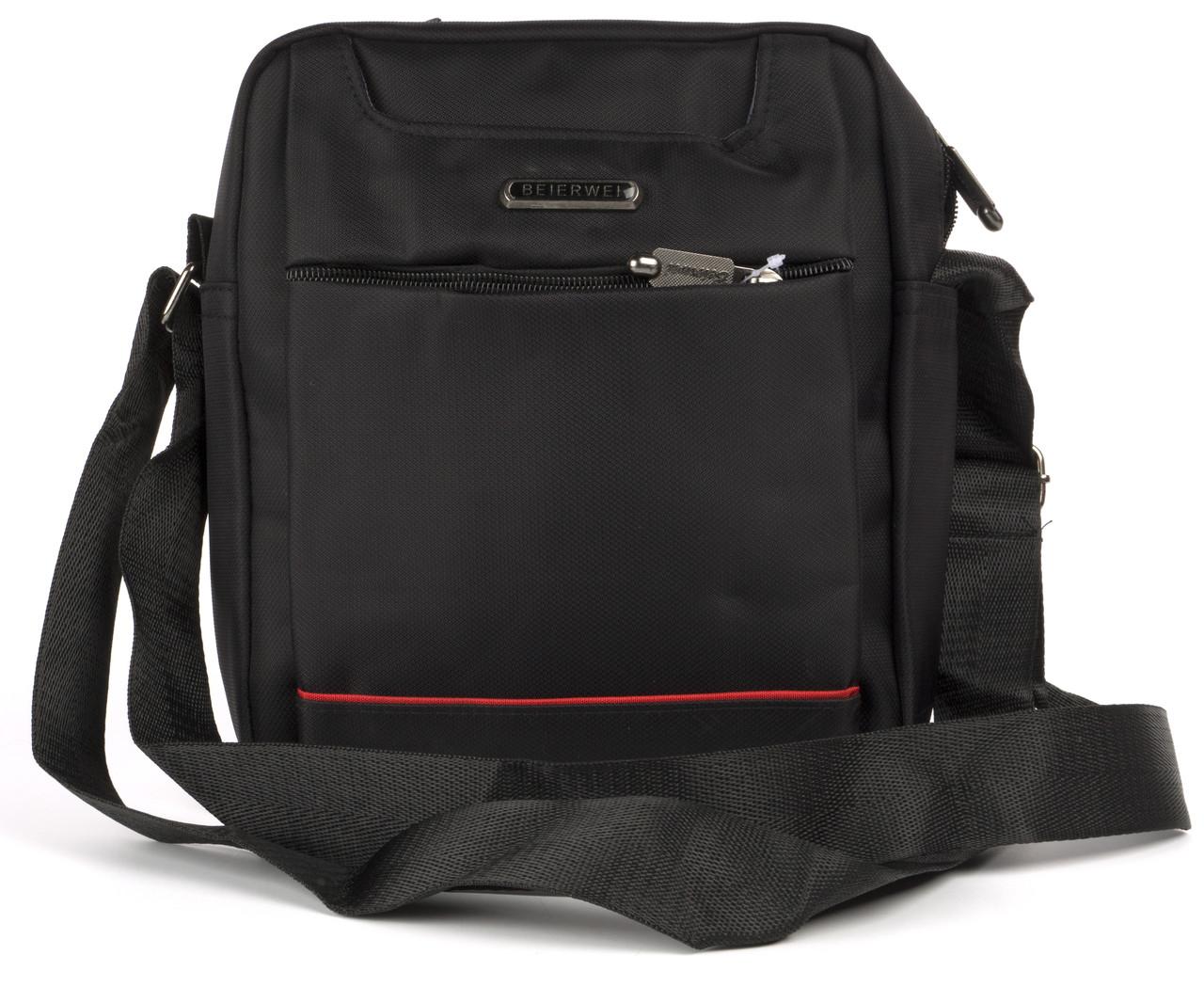 Красива чорна чоловіча сумка Beierwei art. 635