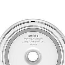 Бездротова зарядка Baseus 2A Micro-USB Donut Wireless Charger White (WXTTQ-02), фото 2