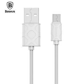 Кабель синхронизации Baseus Yaven USB-microUSB 1 м white (CAMUN-02), фото 2