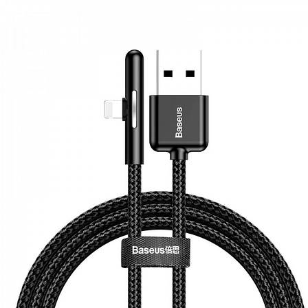 Кабель синхронізації Baseus Iridescent Lamp Lightning Cable 2.4 A 1m black (CAL7C-A01), фото 2